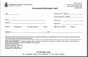 community borrower card
